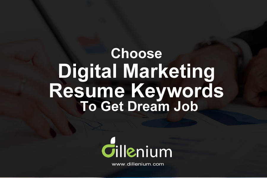 choose digital marketing resume keywords