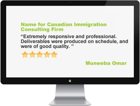 Business name service - Testimonial 4
