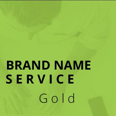 custom brand naming service gold