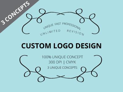 custom professional logo design business logo design