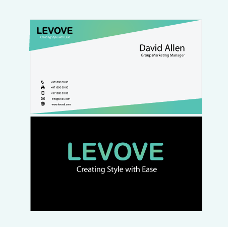 business card concept brand identity