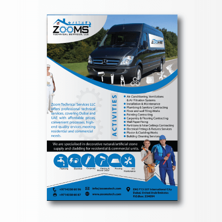 custom flyer design concept technical services flyer