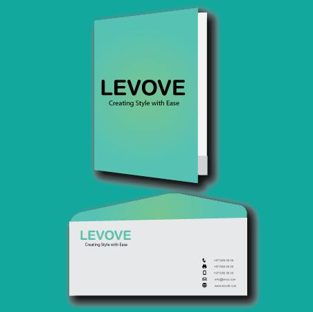stationery design notebook and envelop