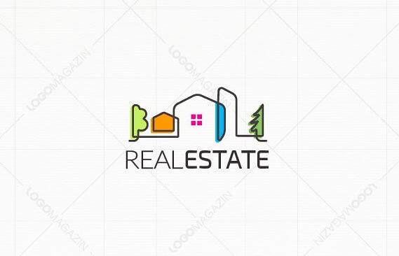 cool real estate logo design template