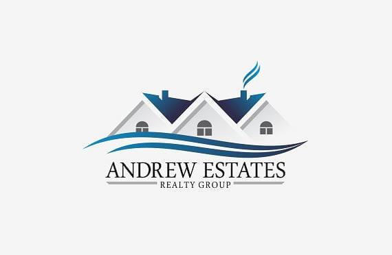 elegant real estate logo design template