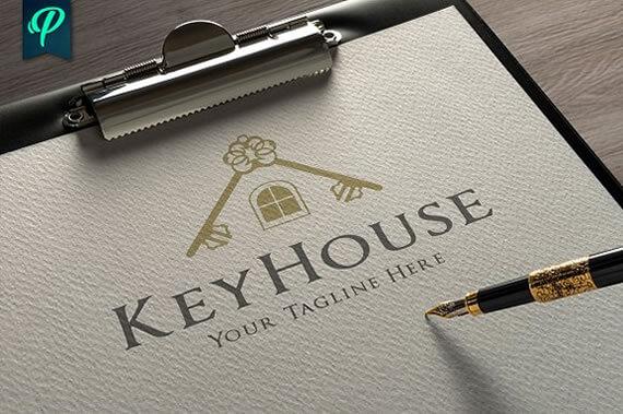 inspiring real estate logo design template