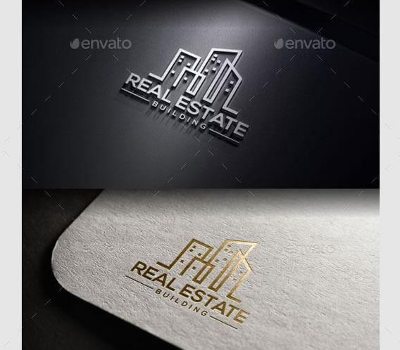 Amazing real estate logo design template
