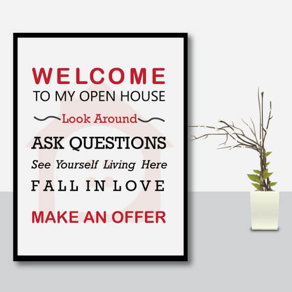 realtor open house signs instant download printable