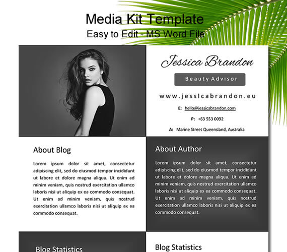 Blogger media kit template black digital marketing agency seo blogger media kit template black and white one page media kit template maxwellsz