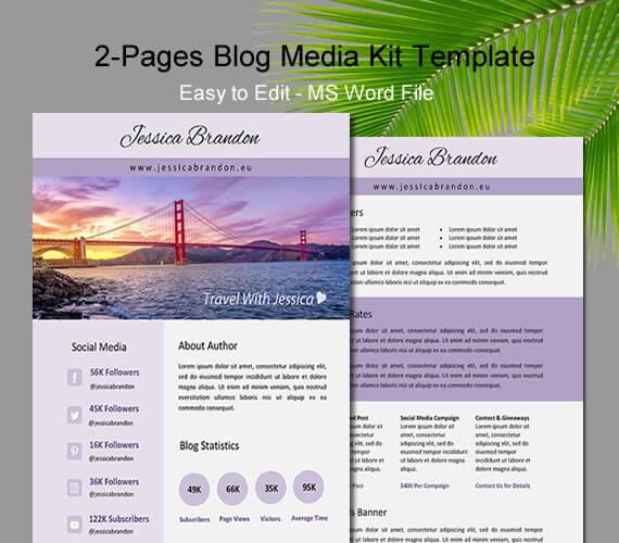 media kit template word 618028