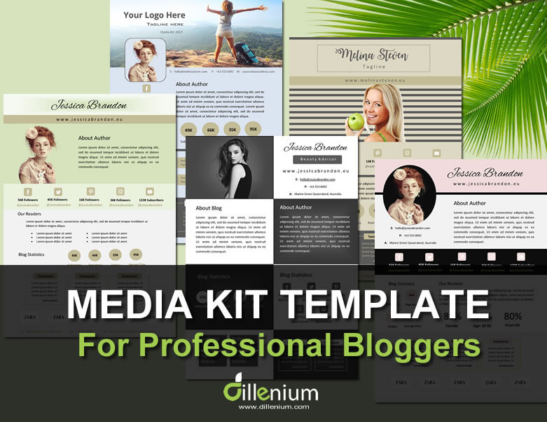 Editable Media Kit Template For Bloggers  Electronic Press Kit