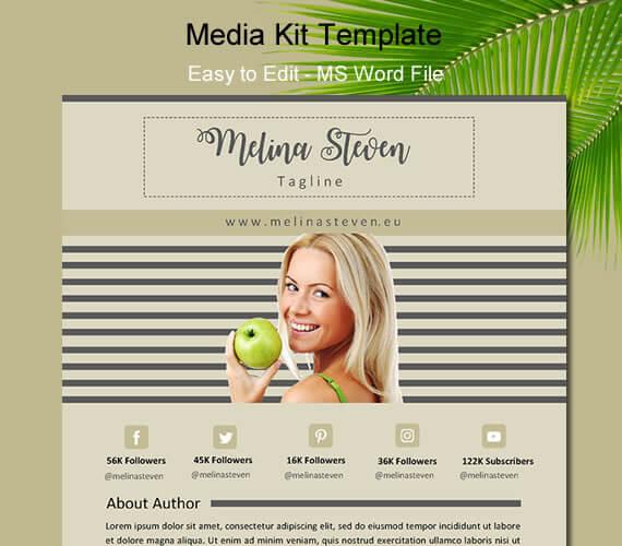 Blogger Media Kit Template Ms Word Digital Marketing Agency Seo