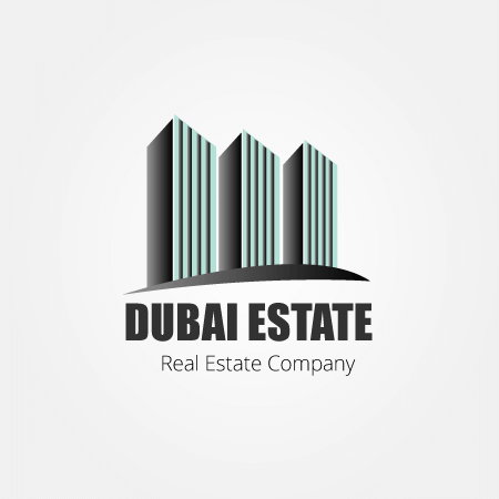 dubai real estate logo design with tower symbol