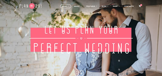 wedding planning website template wordpress