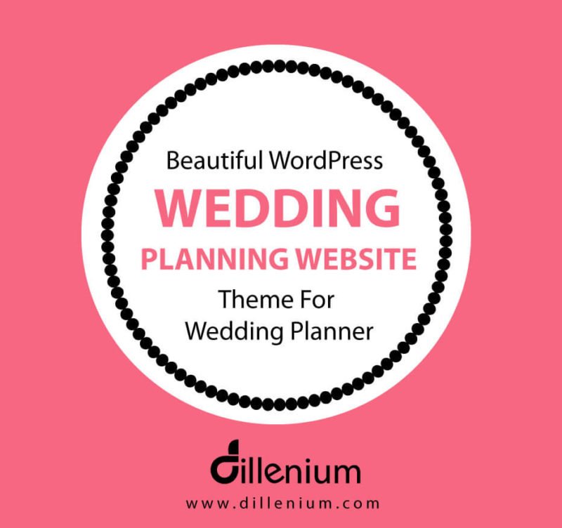 wordpress wedding planning website for wedding planner