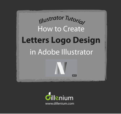 Illustrator tutorial how to create letters logo design