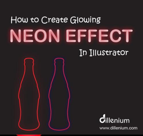 glowing neon effect illustrator