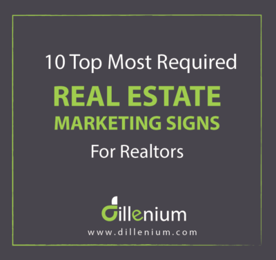 real estate marketing signs