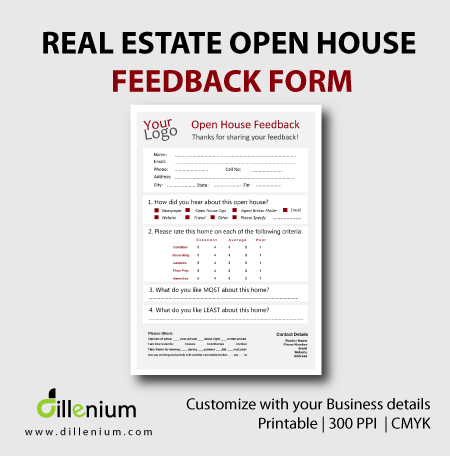 real estate open house feedback form