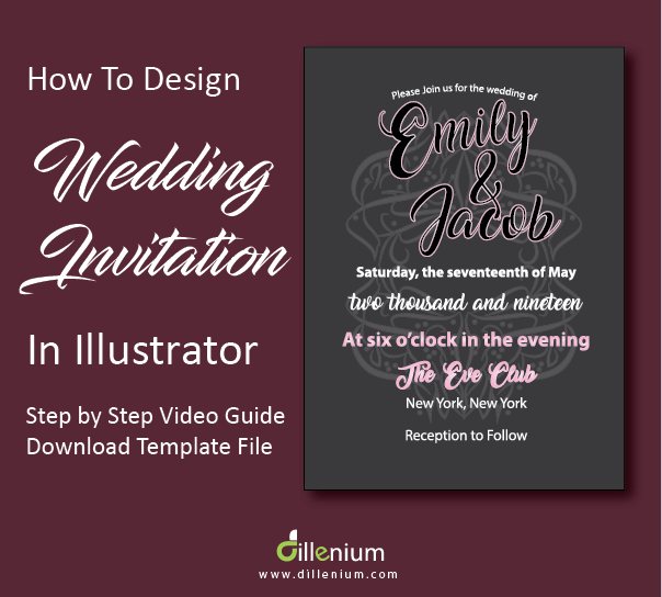 how to design a wedding invitation in adobe illustrator
