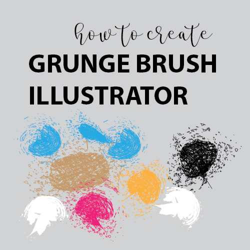 How to Create Grunge Brush in Illustrator - Vector Graphics