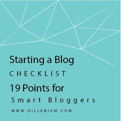 starting a blog checklist