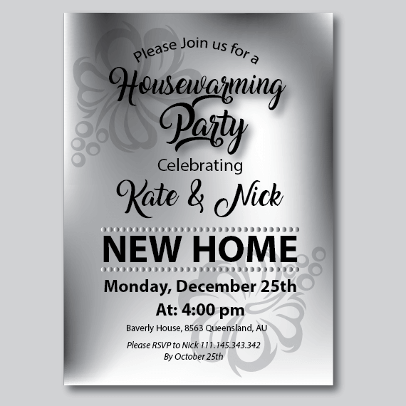 picture relating to Printable Housewarming Invitations called Printable Housewarming Get together Invites towards Obtain