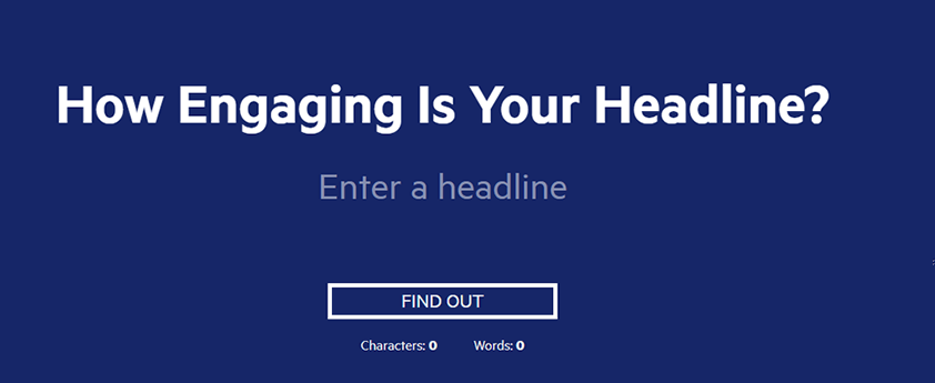 content marketing tool - headline analyzer