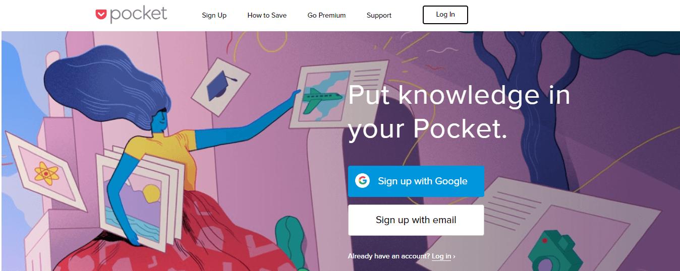 content marketing tool - pocket