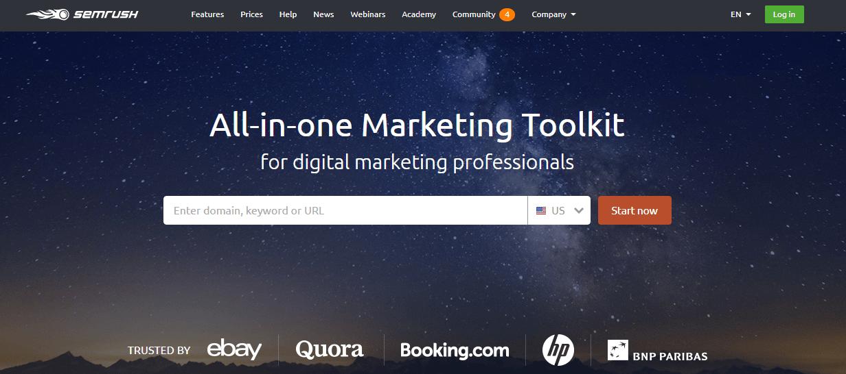Content marketing tool - semrush