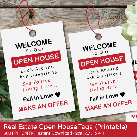 image relating to Welcome to Our Open House Printable referred to as Accurate Estate Open up Room Tags, Open up home tags, open up Place indication